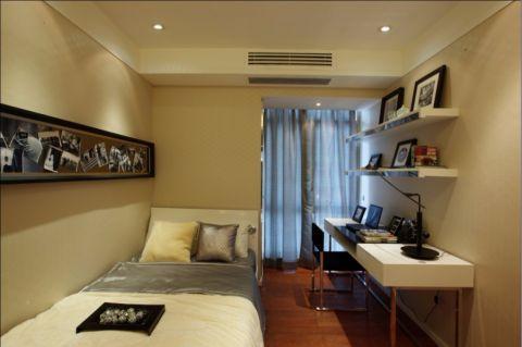卧室灰色窗帘现代简约风格效果图
