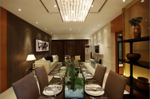 餐厅白色吊顶现代简约风格装修效果图