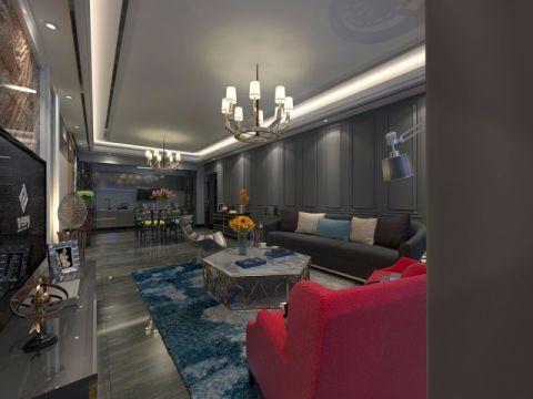 客厅隔断美式风格效果图