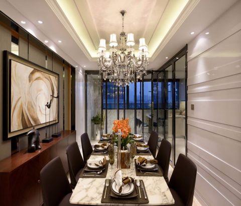 餐厅白色吊顶简约风格装修图片