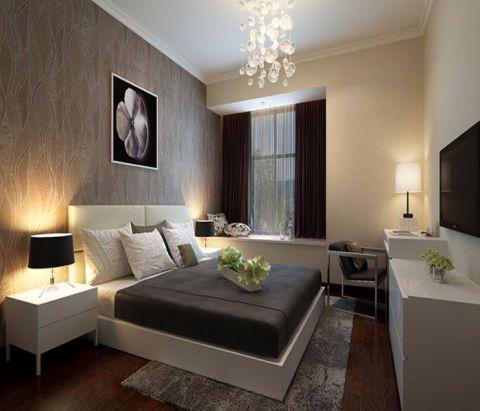 卧室米色床简约风格装饰图片