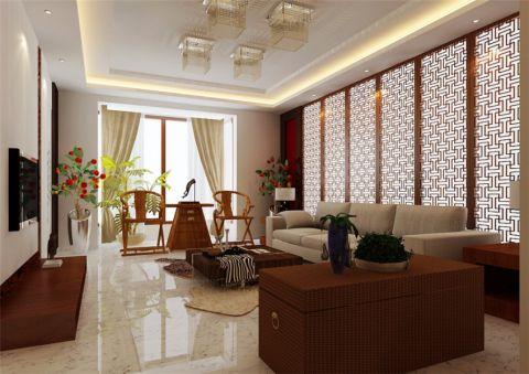 新中式风格128平米大户型室内装修效果图