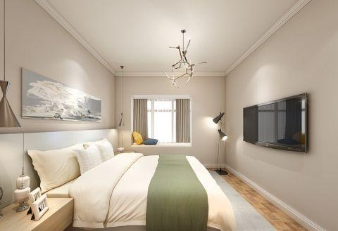 卧室飘窗北欧风格装潢图片
