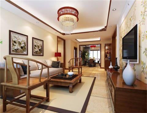 109平新中式三居室效果图