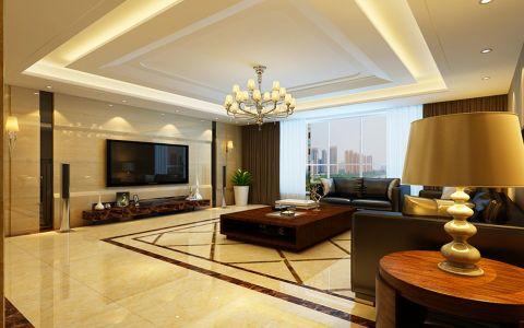 现代简约风格306平米别墅新房装修效果图