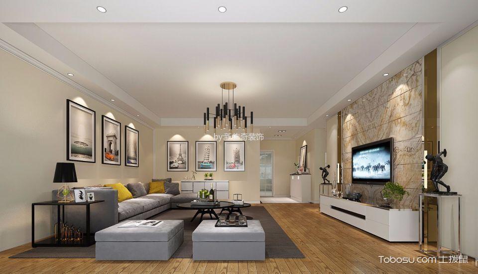 现代简约风格180平米大户型室内装修效果图