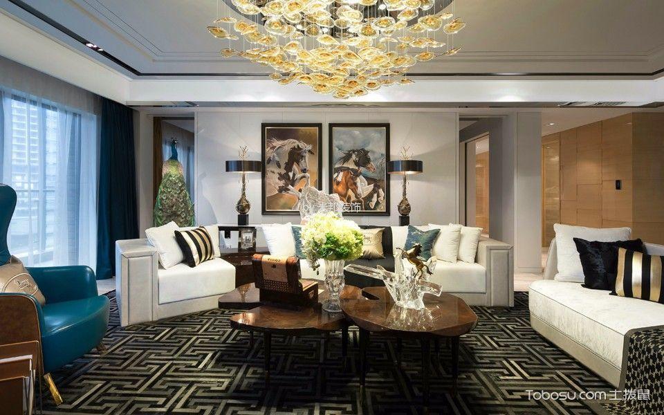 混搭风格170平米四室两厅室内装修效果图