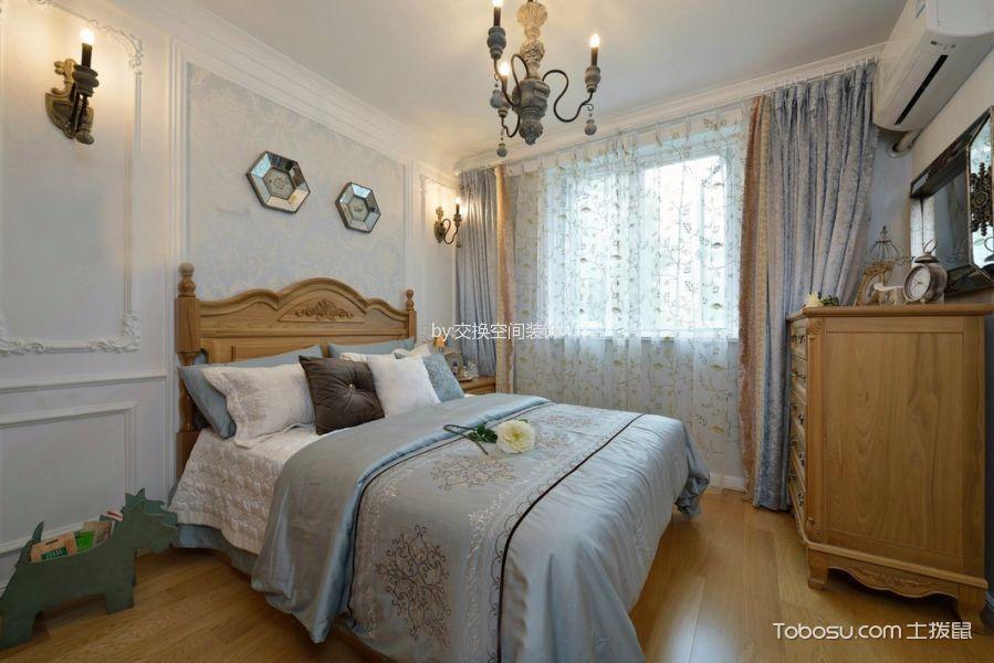 90平米美式风格两居室装修效果图