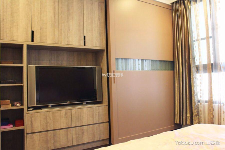 卧室黄色窗帘简约风格装修设计图片