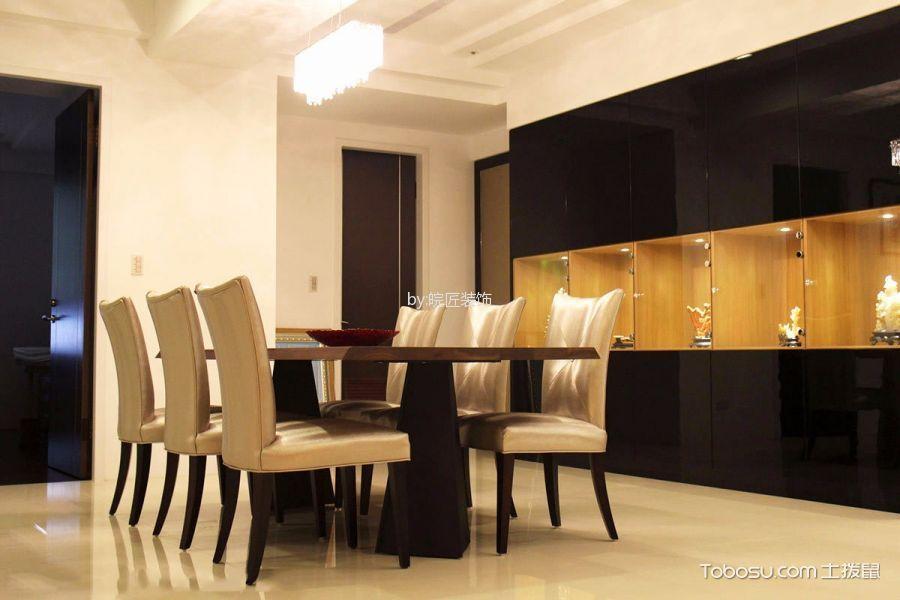 餐厅白色吊顶简约风格装潢设计图片