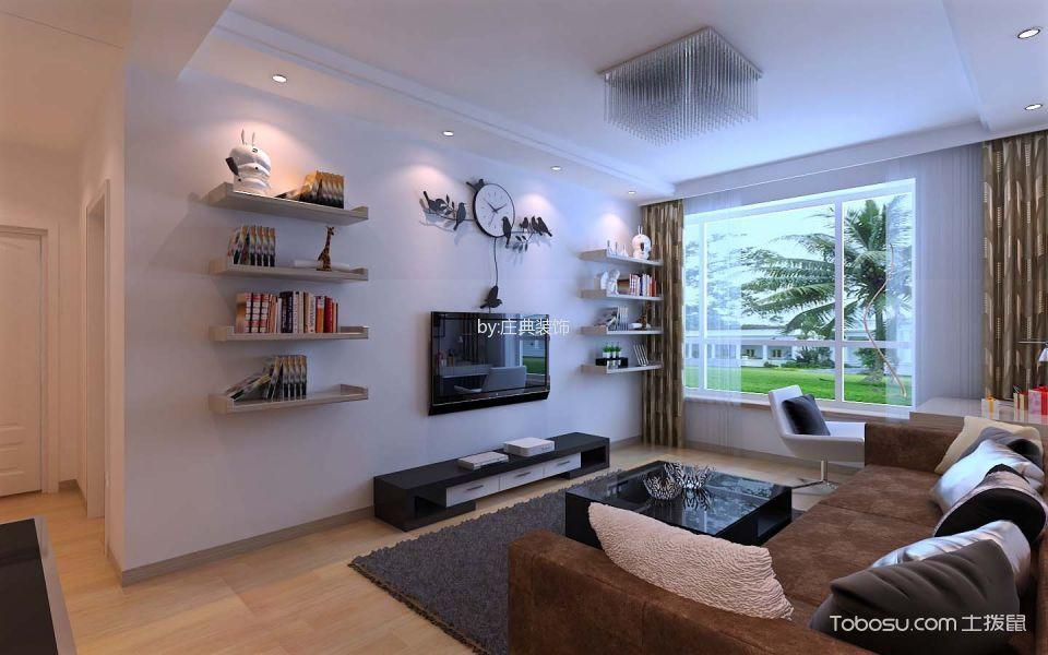 现代简约风格88平米两室两厅新房装修效果图
