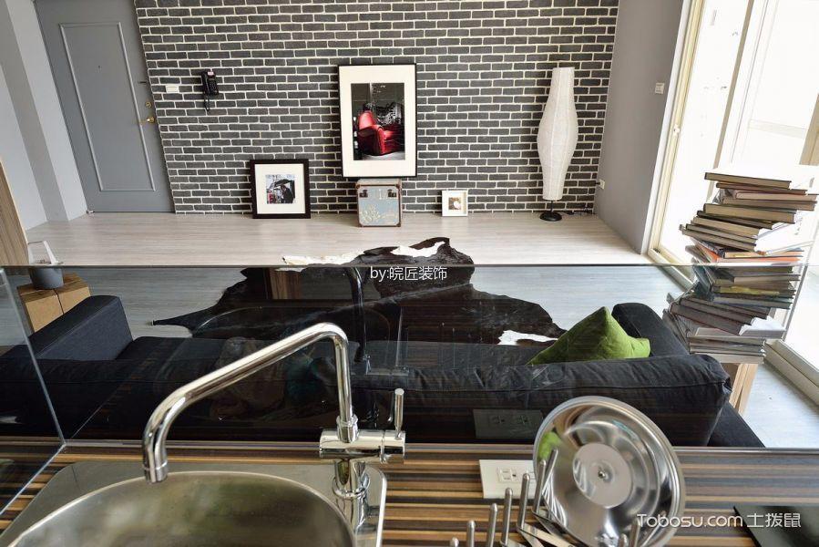厨房咖啡色厨房岛台现代风格装饰图片