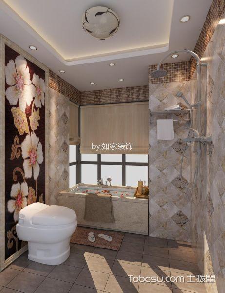 卫生间白色吊顶中式风格装潢图片