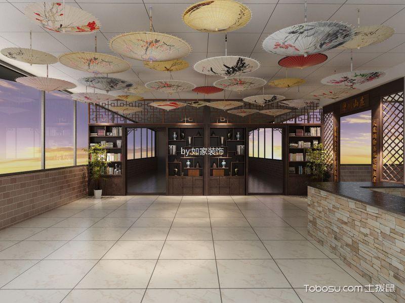 客厅白色走廊中式风格装修设计图片