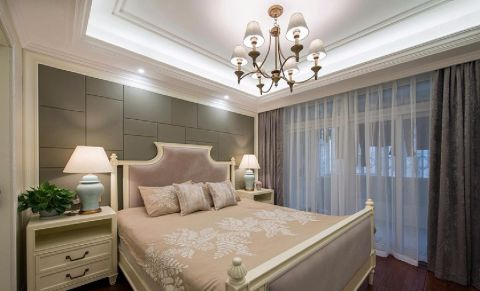 卧室吊顶简欧风格装潢图片