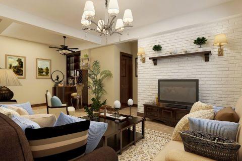 美式风格166平米四室两厅室内装修效果图