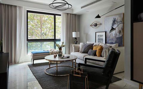 现代风格90平米公寓新房装修效果图