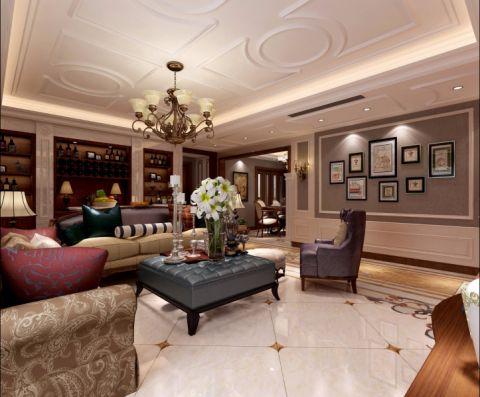 升龙城四居室大户型古典美式风格效果图