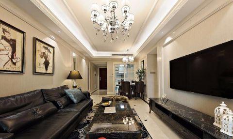 客厅吊顶新古典风格装饰图片