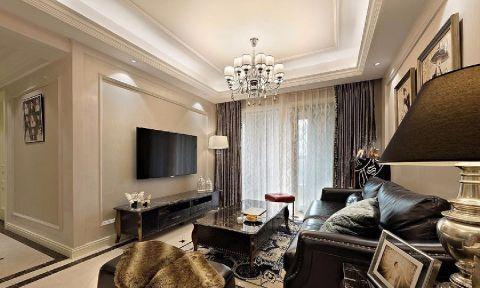 古典风格89平米三室两厅新房装修效果图