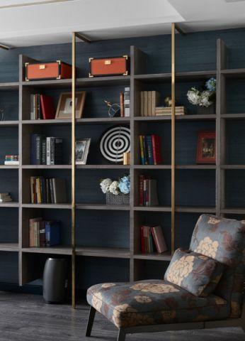 书房博古架现代风格装潢图片