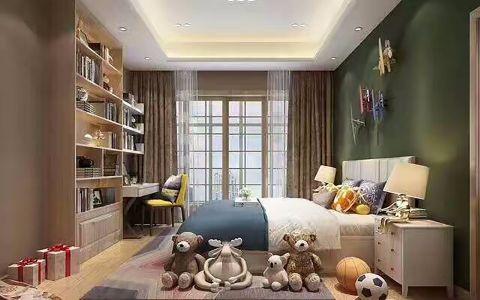 简约风格130平米两室两厅新房装修效果图