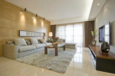 现代简约风格140平米三室两厅新房装修效果图