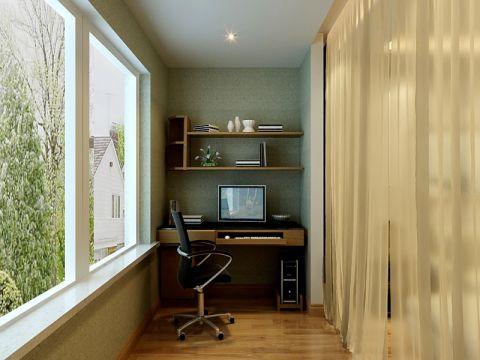 阳台地板砖现代简约风格装修效果图