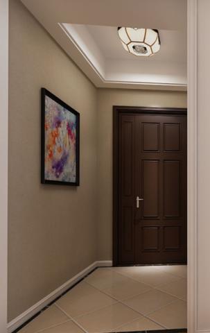 玄关背景墙美式风格装修效果图