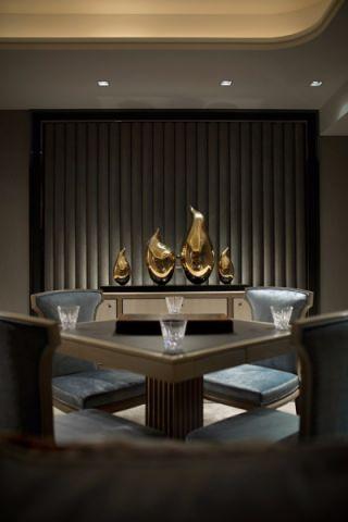 餐厅背景墙混搭风格装潢设计图片