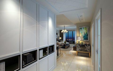 玄关黄色走廊现代简约风格装饰效果图