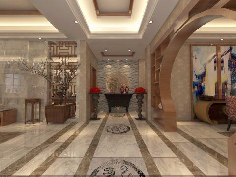 玄关走廊中式风格装饰效果图