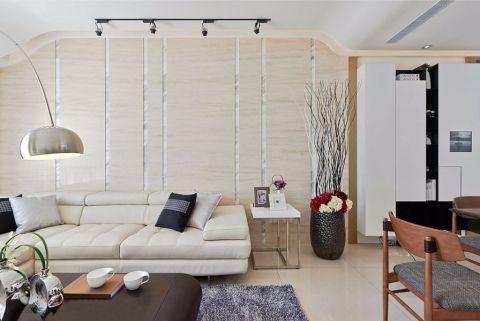 客厅米色沙发北欧风格装修设计图片