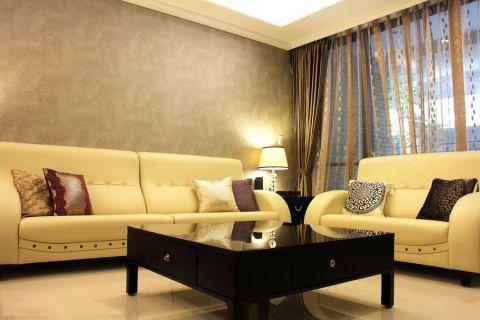 客厅黑色茶几简约风格装饰设计图片