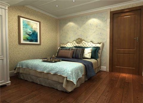 卧室米色床欧式风格装饰设计图片