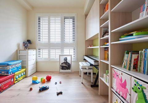 儿童房咖啡色北欧风格装修设计图片