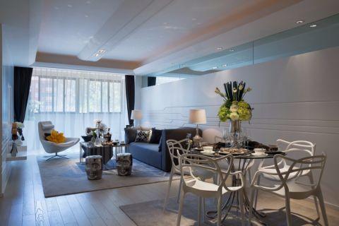 餐厅白色餐桌简约风格装饰设计图片