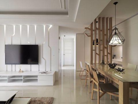 餐厅白色吊顶现代风格装潢图片