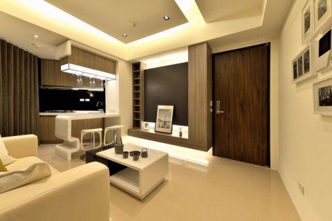 现代风格70平米公寓新房装修效果图