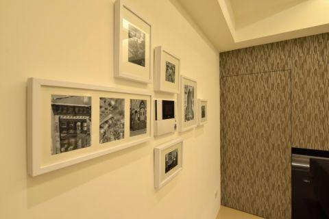 玄关白色照片墙现代风格装潢图片