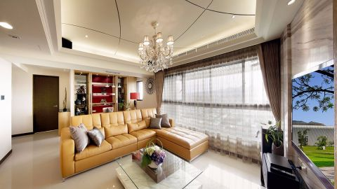 客厅吊顶混搭风格装修图片