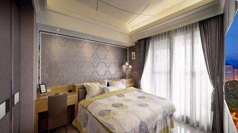 卧室窗帘混搭风格装饰图片