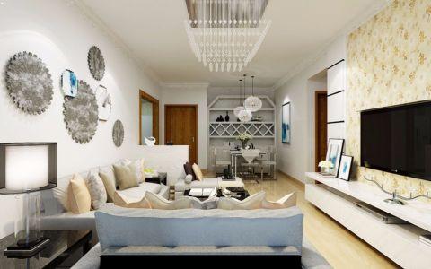 现代风格110平米公寓新房装修效果图
