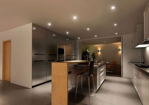 厨房吧台简约风格装潢设计图片