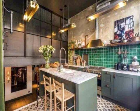 厨房橱柜后现代风格效果图
