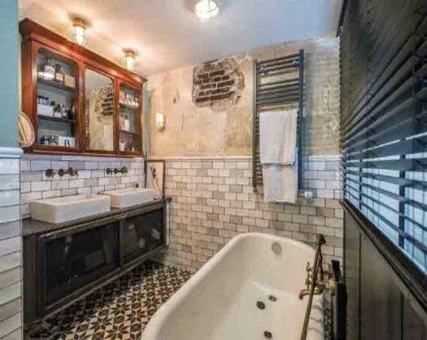 浴室浴缸后现代风格装修效果图