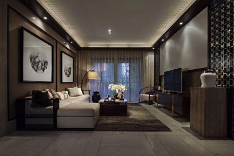 新中式风格100平米四室两厅室内装修效果图