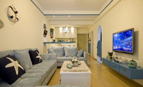 客厅电视柜地中海风格装修设计图片