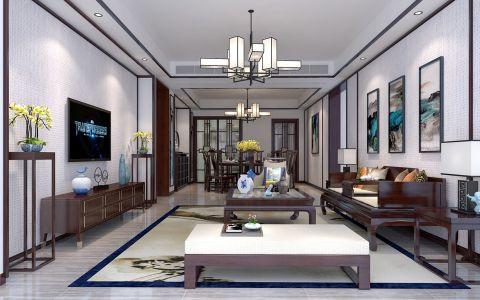 客厅吊顶新中式风格装饰设计图片