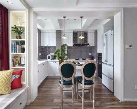 美式风格90平米两室两厅室内装修效果图